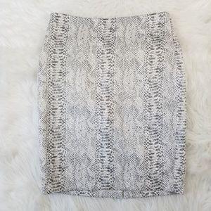 Ann Taylor Women's 10 Snake Skin Pencil Skirt